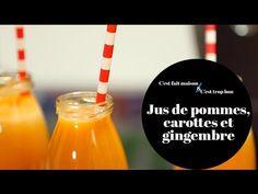 Jus de pommes, carottes et gingembre en vidéo