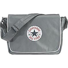 dc4ccd1b602b9 Converse Umhängetaschen Vintage Patch Flapbag Umhängetasche grau