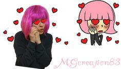"""I'm in love"" Hacker girl make with Gimp by MGCreation83 - Crochet time with Giulia"