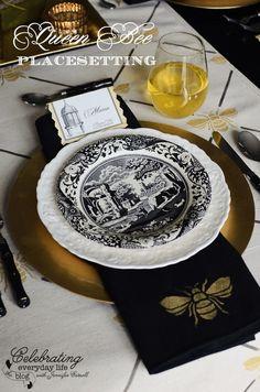 Queen Bee Luncheon placesetting