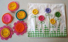 .flower button book