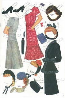 Miss Missy Paper Dolls: Glamour Girl Repro
