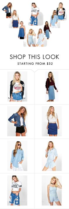 """""""Denim Girl..**"""" by yagna ❤ liked on Polyvore featuring Boohoo"""