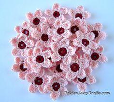 Cherry Blossoms - Free Crochet Pattern at GoldenLucyCrafts.