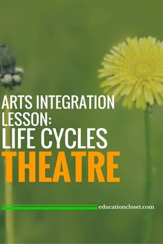Arts Integration Lesson: Life Cycles Theatre | educationcloset.com