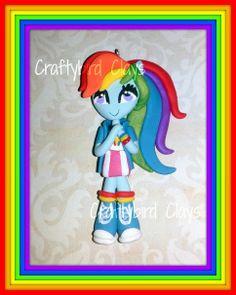 Rainbow Dash Equestria Girl Inspired Polymer by BeFairyCreative, $7.50