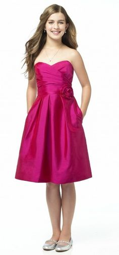 jr bridesmaid dress - i love that she's in flats