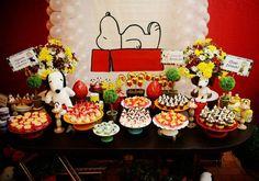 Snoopy: como decorar uma festa de 1 ano com o personagem! #CharlieBrown #festinha