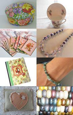 FRU Sweet 16 Treasury #1 by #GlossyPapierRecy #Vintage #GiftsForWomen #Supplies #Jewelry #Flowers #Seeds