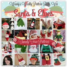 20 free patterns ~ Santa & Elf ~ Wendy's Weekly Pattern Picks V26