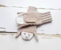 Sheeps Mittens/ Animals Gloves/ Kids Gloves/ by NataNatastudio
