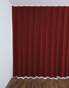 Blackout Hotelvorhang Zürich (nach Mass) in der Farbe purpurrot. Bronze, Messing, Curtains, Beige, Shower, Home Decor, Fabric Patterns, Red, Living Room