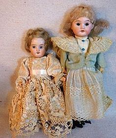 Adorable Antique German Bisque Head Sister Dolls from TIME TRAVEL TREASURES on DOLLSHOPSUNITED http://www.dollshopsunited.com/stores/timetraveltreasures/items/1283669/Adorable-Antique-German-Bisque-Head-Sister-Dolls #dollshopsunited