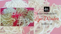 In this live Periscope broadcast Jackie M discusses Lye Water and shows how it's used by making homemade Hokkien noodles… Malaysian Recipes, Malaysian Food, Asian Cooking, Noodle Recipes, Coconut Flakes, Places To Eat, Noodles, Spices, Homemade