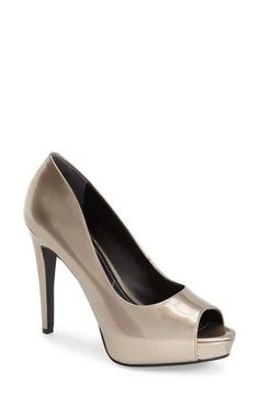 NEW! $109 Charles By Charles David Metallic 'Fox' Platform Peep Toe Pump  SZ 8M #CharlesbyCharlesDavid #PumpsClassics #Formal