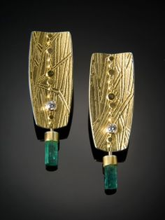 Sydney's work is some that I would like to own from another artist. Sydney Lynch Emerald Crystal Earrings