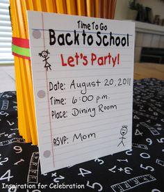 Inspiration for Celebration: Back to School Ideas