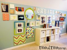 Can't wait to move into the new house so I have space to decorate my art room like this!