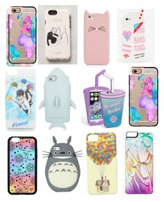 """""""My fave phone cases"""" by fabulousbella11 ❤ liked on Polyvore featuring Casetify, Rifle Paper Co, Kate Spade, Valfré, STELLA McCARTNEY, Skinnydip, Forever 21, Disney and Zero Gravity"""