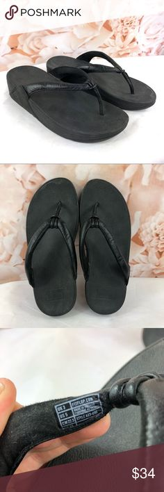 0e3971af06819c Fitflop sandals flip flops black size 5 In good condition See photos for  details Fitflop Shoes