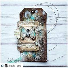 Check out my butterfly stamps used on this cool tag - wow! #Repost @kasia_bog…