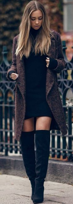 Awesome Autumn Winter Trends We discover the fashion trends of the season. - Women's Jewelry and Accessories-Women Fashion Mode Outfits, Casual Outfits, Fashion Outfits, Womens Fashion, Fashion Tips, Fashion Ideas, Fasion, Night Outfits, Casual Wear