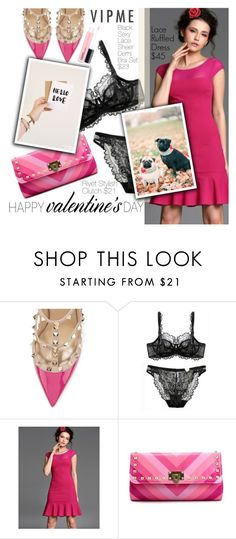 """Happy Valentine's Day"" by pokadoll ❤ liked on Polyvore featuring Valentino, MAC Cosmetics, women's clothing, women, female, woman, misses, juniors and vipme"
