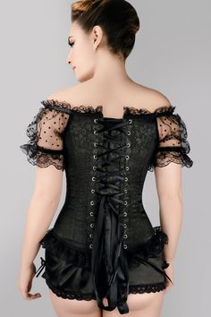c69872fe79 Black Brocade Overbust With Court Neck And Sleeves - US6. Gothic ChicBlack  CorsetOverbust ...