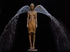 Małgorzata Chodakowska outdoor angel water fountains