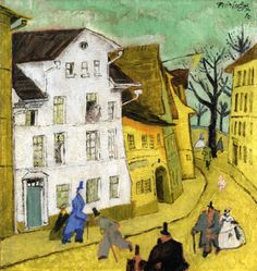 Feininger, Lyonel - Town - Expressionism - Cityscape - Oil on canvas
