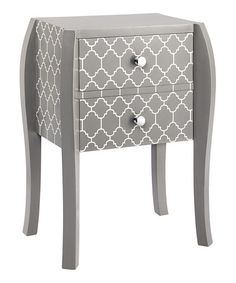 Look what I found on #zulily! Gray Quatrefoil Bombe End Table #zulilyfinds