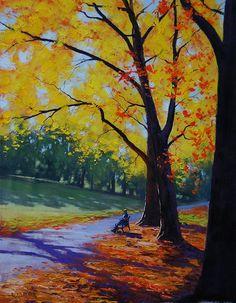 Autumn in the park by artsaus.deviantart.com