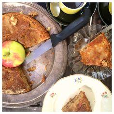 Äppelkaka med valnötter, kanel & kaffe (gluten, mjölk & sockerfri)
