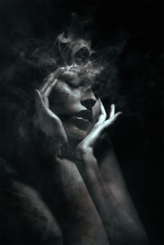 "Italian artist Federico Bebber creates these stunning dark and moody female portraits through a creative digital manipulation process. The surreal scenes are filled with a dramatic passion, which is emphasized by the neutral black and white tones swirling together in clouds of misty smoke. Bebber says, ""Viewers will stop to listen, as if waiting for …"