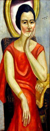 Max Beckmann - Portrait of Katheren from Porada at the Städel Art Museum Frankfurt Germany