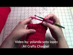 Easy Beginner crochet women slippers - YouTube...... Mine turned out pretty big, will try again and make smaller.