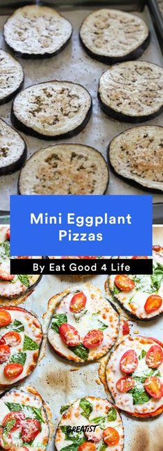 4. Mini Eggplant Pizzas #healthy #pizza #recipes greatist.com/...