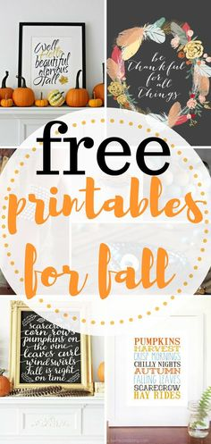 Inexpensive printables for fall. These Free Fall Printables will be an easy DIY was to add some fun to my fall home decor.