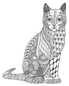 My Recent Personal Drawings Zentangle Stylized Animals On Behance