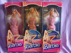 SuperStar Barbie was so glamourous with earrings, a ring and her BENT arms.