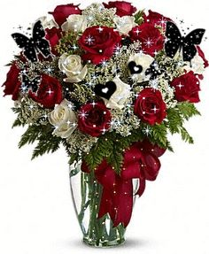 Butterfly Bouquet flowers butterfly animated gif blossom lily