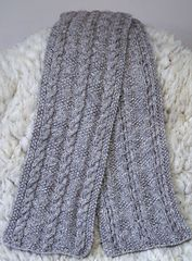 Ravelry: Cable and Diamond, aran weight gansey scarf pattern by Elizabeth Lovick