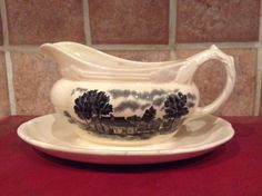 Grindley Antique Sauce Boat/Spectacular by MerryLegsandTiptoes on Etsy