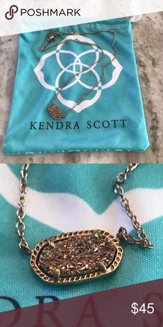 Kendra Scott Necklace GOLD Elisa Pendant Necklace Kendra Scott Jewelry Necklaces