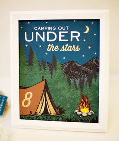 Camping Party Printables {Smore Favors}