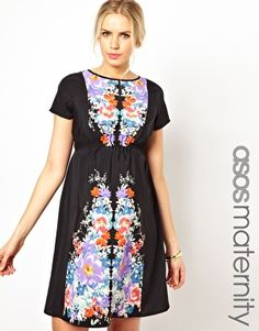 Enlarge ASOS Maternity Skater Dress with Floral Placement - $58.19