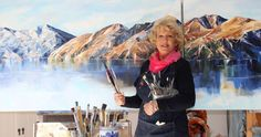 Local Artist ~ Jane Sinclair Wanaka Artist Florence Cafe, Living In New Zealand, Palette Knife Painting, Local Artists, Mountain View, Trip Advisor, Tourism, Studio, Turismo