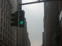 Green light when NYC under grey skies