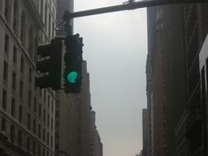 Green light when NYC under grey skies