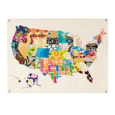 each state drawn by a different child and put together for a whole coop project